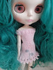 Picot knit and embroidered dress for Blythe by arianna frasca