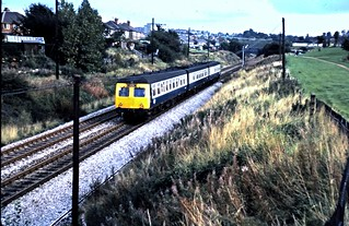 Unidentified class 120 DMU. Normacot. 01/10/78