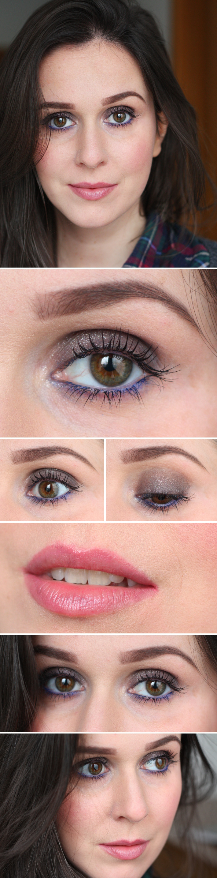 Beauty: shimmering smokey eye with blue tightlining