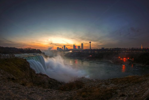 travel sunset vacation ny newyork ontario canada tourism wet water clouds america canon eos rebel lights niagarafalls waterfall cityscape dusk north upstate canadian niagara falls dslr touristattraction goldenhour americanfalls iloveny niagarariver ilovenewyork canadianfalls garyburke klingon65 t1i canoneosrebelt1i