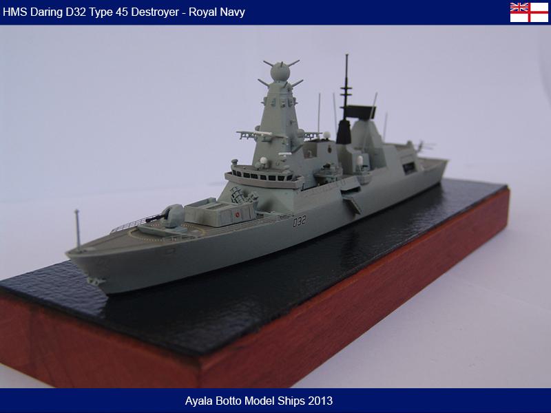 HMS Daring D32 Type 45 Destroyer Royal Navy - Cyber Hobby 1/700 16489086099_9f78b675de_c