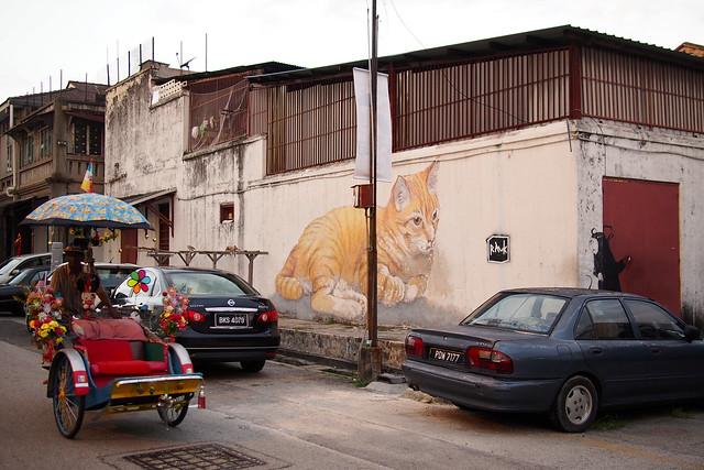 cat, wall  mural, Georgetown, Penang, Malaysia