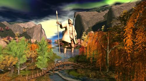 Bridge and Giant Statue