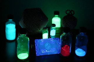 Zen Magnets with glow-in-the-dark powders and sands from Glow Inc.