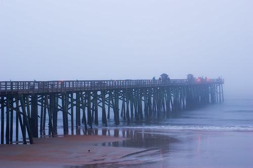 usa fog fishing florida earlymorning palmcoast flaglerpier