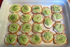 cucumber crackers, Daigle's dinner party, 23…