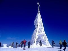 Cumbre de Gorbeia (1.482 m.) en pleno invierno