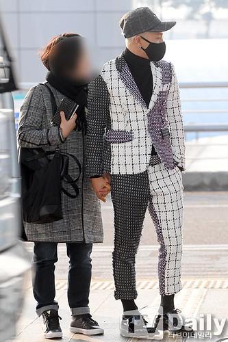 Tae Yang - Incheon Airport - 09jan2015 - TV Daily - 02