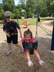 Enjoying the swing