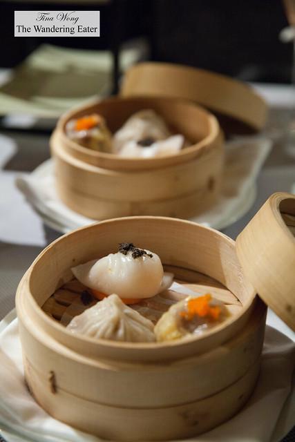 Dim sum - Lobster & truffle dumpling, Pork soup dumpling, pork shumai