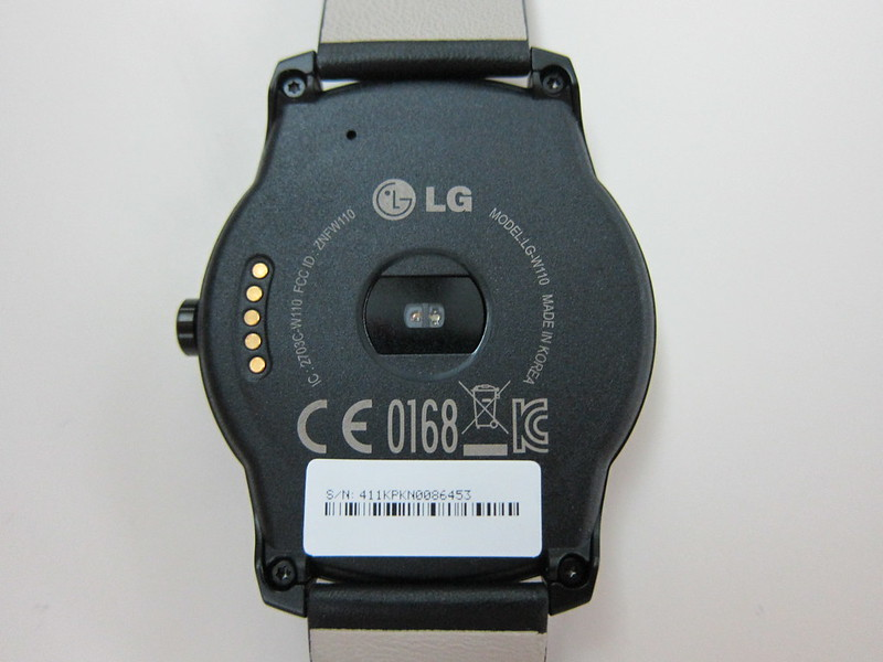 LG G Watch R - Back