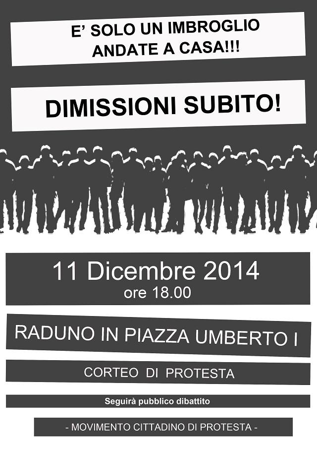 Noicattaro. Manifesto protesta dimissioni intero