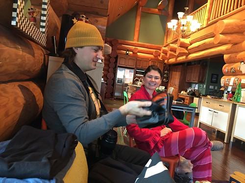 Sean and his new Tumi travel bag