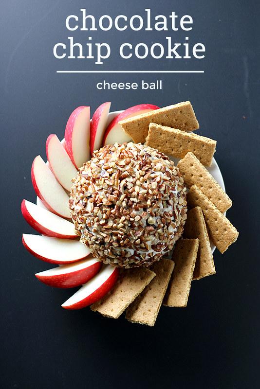 Chocolate Chip Cookie Cheese Ball | girlversusdough.com @stephmwise