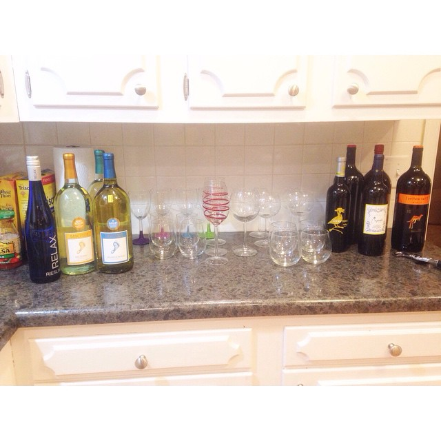 Getting ready to host wine... I mean book club