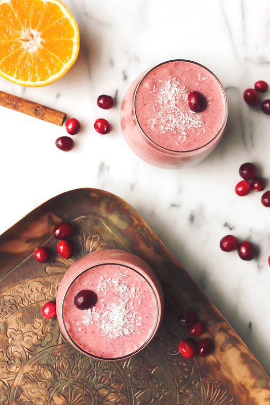 Orange Cranberry Coconut Smoothie