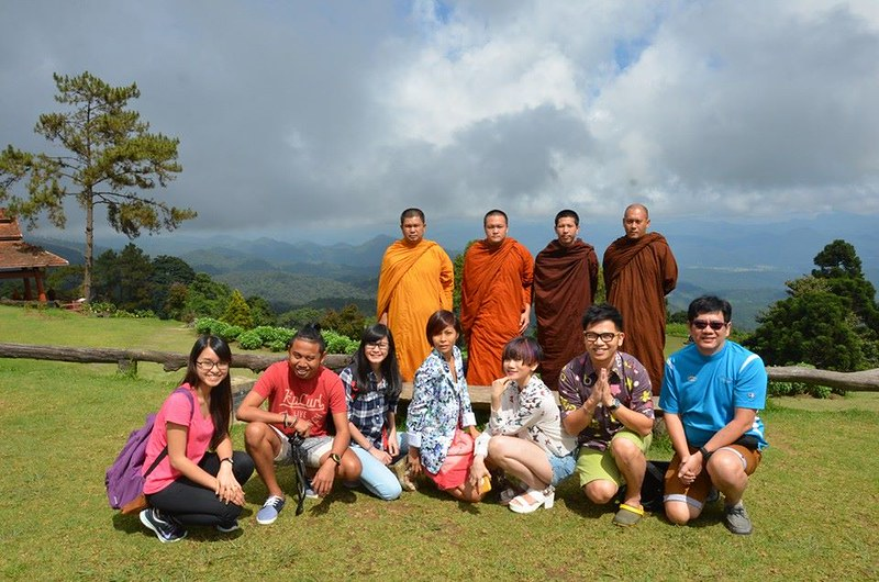 national park in Pai - group photo