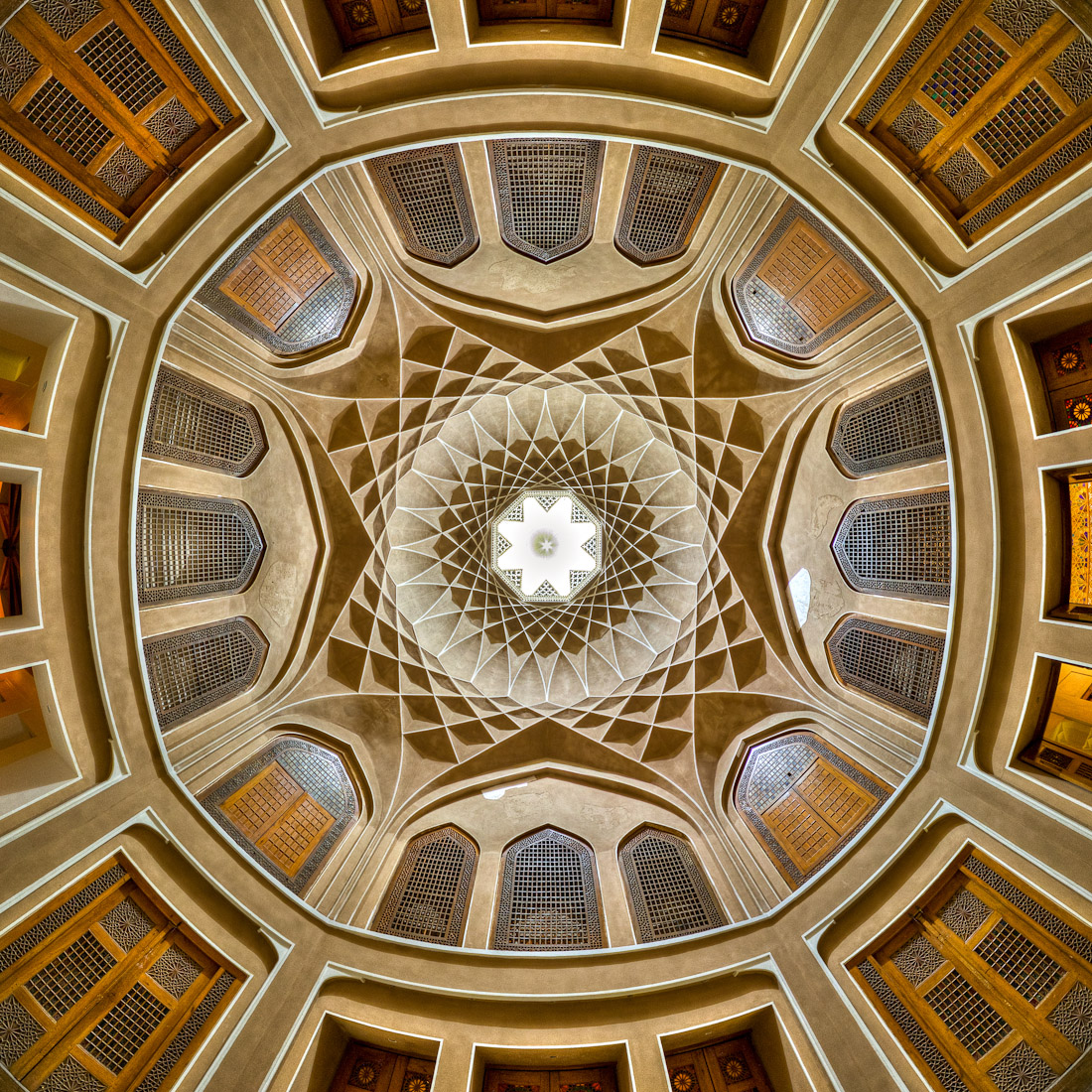 Ceiling of Dolat abad, photo by Mohammad Reza Domiri Ganji