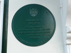 Photo of Hilda Coles green plaque