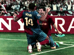 Henry and Messi, UCL Final