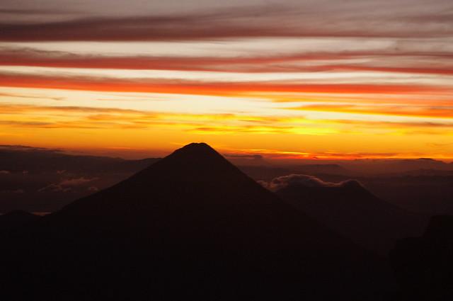 Sunrise Volcan Acatenango, Antigua Guatemala, Guatemala