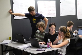 Students and mentors of the Mahara project team. Photo by Kristina Hoeppner