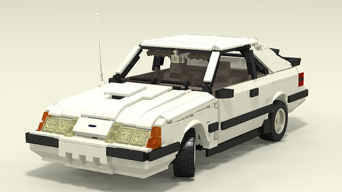 1985 Mustang SVO front left decaled