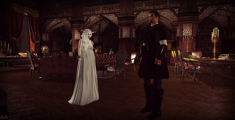 Library Caelestivm - I - Lord Lockhart giving a me tour in the new library :)