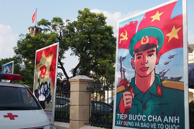 communist poster, Hanoi, Vietnam
