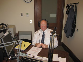 Rep. Joe Schmick prepares for a telephone town hall with 9th District residents