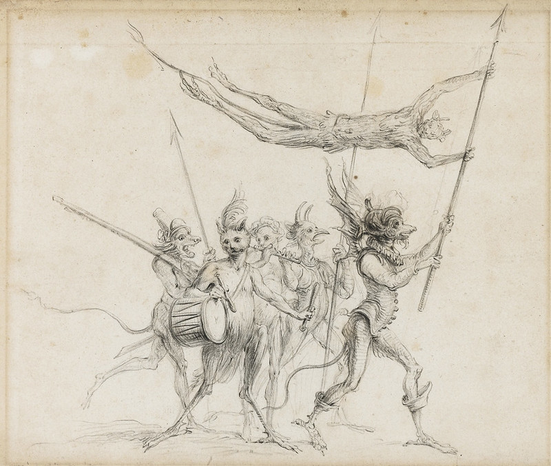 Cornelis Saftleven - A procession of diabolical creatures, mid 17th century