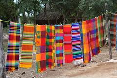 Ek' Balam vendor scarves
