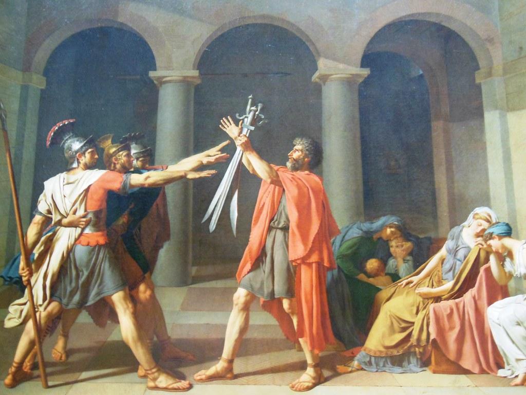 David. Juramento de los Horacios