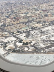 Flying out of snow-covered DC