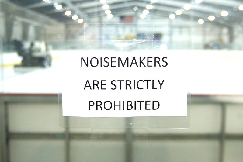58/365. noisemakers are strictly prohibited.