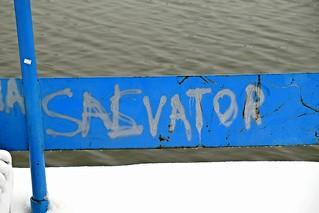 Salvator on blue