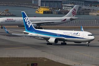 JA624A, Boeing 767-381(ER)(WL), HKG/VHHH