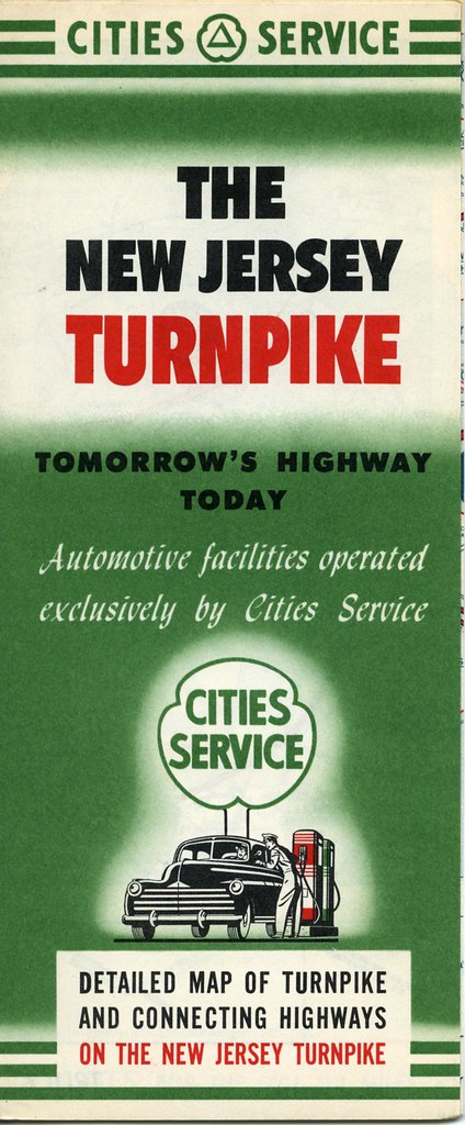 Cities Service New Jersey Turnpike NJ road map | William ...