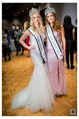 The passing of the torch - Miss Teenage BC 2014, Natasha Smith (l) with newly crowned Miss Teenage BC 2015, Sienna Leone (r)