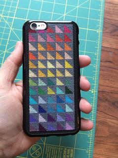 Cross Stitch Rainbow iPhone Case