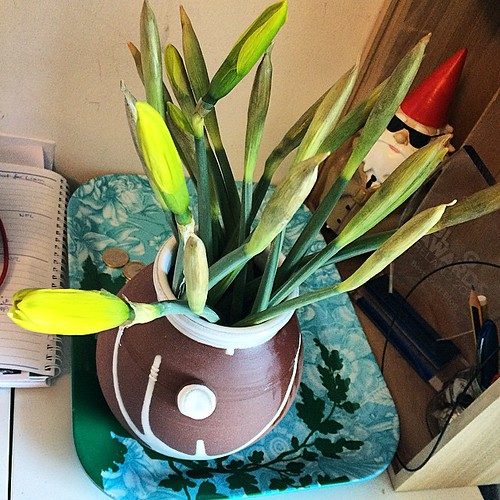 My desk is looking Springy. Loving my Stephen Pearce pot!