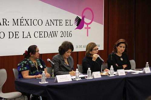 El día 26 de agosto se realizó en el Senado de la República el encuentro cumplir para avanzar: México ante el 9º informe periódico de la CEWAD 2016.