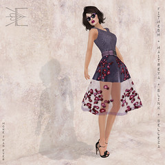 Gift - Hepburn Rose Dress in Plum - More Than Ever