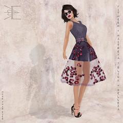 Gift - Hepburn Rose Dress in Plum - More Than Ever