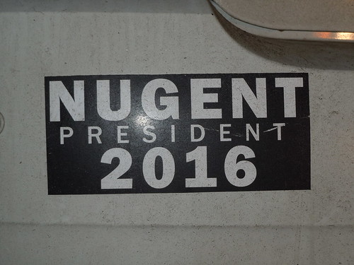"11/14/14 ""Nugent For President 2016"" Bumper Sticker - Minneapolis, MN"