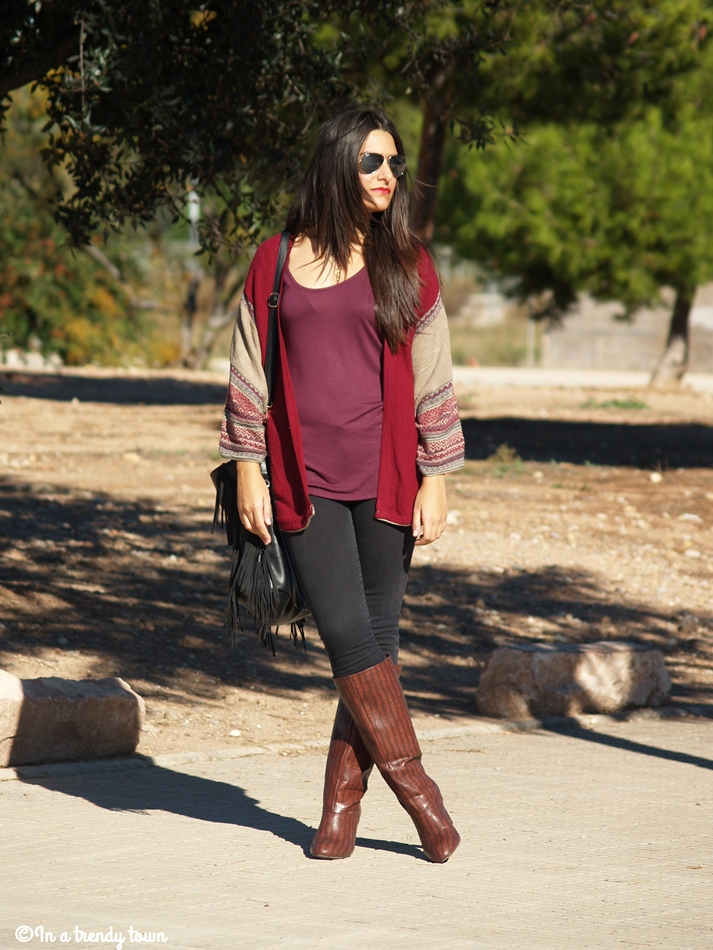 OUTFIT PONCHO CARDIGAN