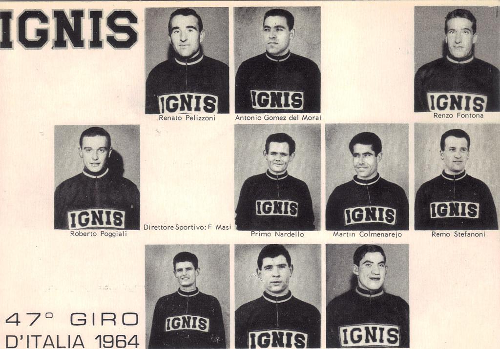 Ignis - partenti 47esimo Giro d'Itaila 1964