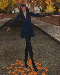 Jada Humby Couture - Jolanda Winter Dress Coat Blue