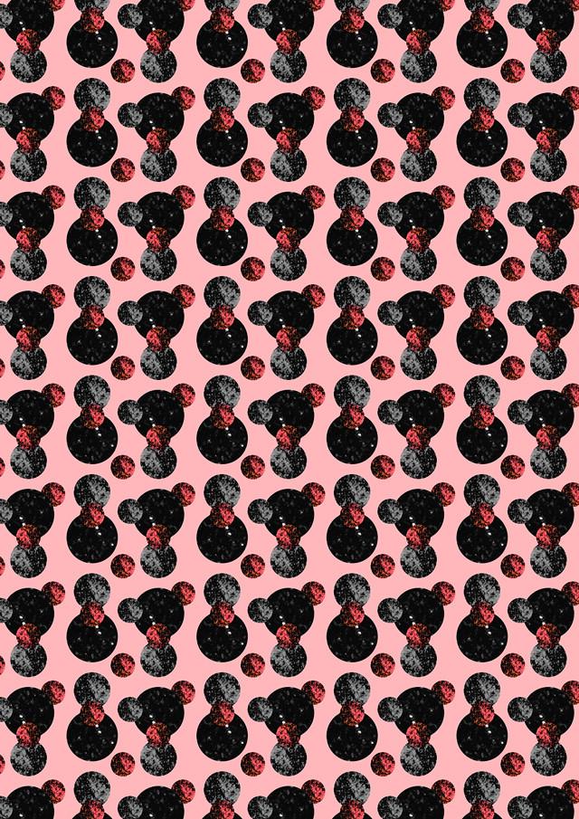 moons pattern (pink) by laura redburn