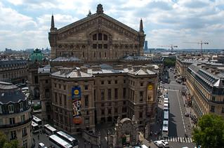 Vue sur l'Opéra Garnier depuis la terrasse des Galeries Lafayette